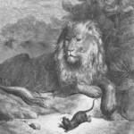 Fables de la fontaine : Illustration Fables De Jean de La Fontaine Le rat et le lion par Gustave Doré